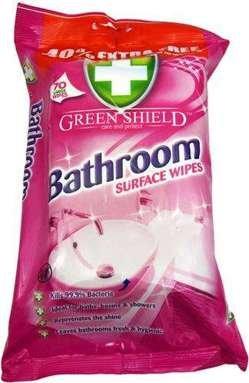 Green Shield Bathroom mitrās salvetes vannasistabas virsmu tīrīšanai x70