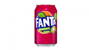 Fanta Strawberry Kiwi gazēts dzēriens 0.33l