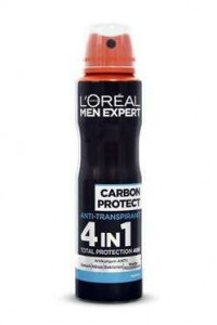 L'Oreal 150ml deo men 4in1 Carbon Protect