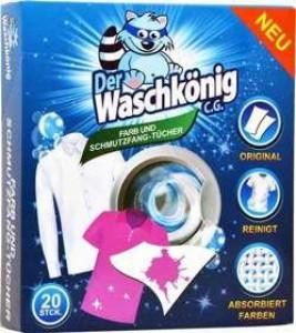 Waschkönig salvetes pret veļas krāsošanos 20gab.