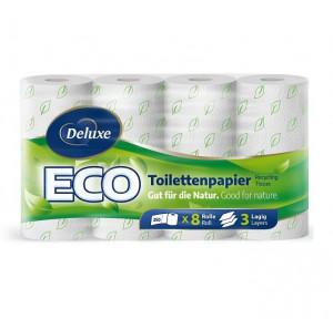 Deluxe 3slāņu ECO tualetes papīrs x8