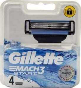 Gillette Mach 3 Start rezerves asmeņi x4
