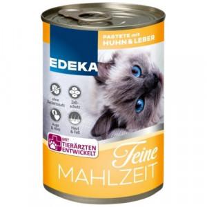 Edeka Feine Mahlzeit konservi kaķiem ar vistu un aknām 400g