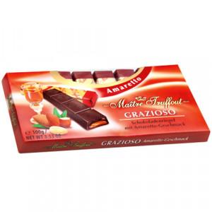 Maitre Truffout Amaretto tumšā šokolāde ar amaretto garšu 100g