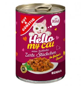 G&G Hello My Cat Huhn konservi kaķiem ar liellopa gaļu 415g
