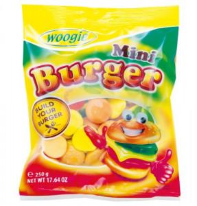 Woogie Mini Burger želejas konfektes 250g