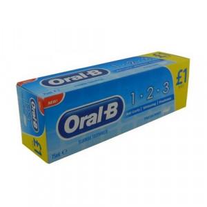 Oral-B 123 Medium zobu birstes x2