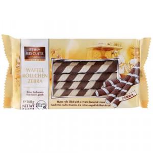 Feiny Biscuits Waffel Rollchen Zebra 160g