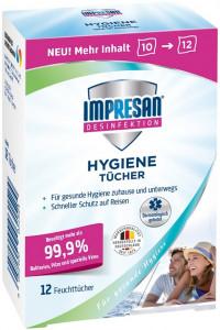 Impresan Hygiene dezinfekcijas salvetes x12