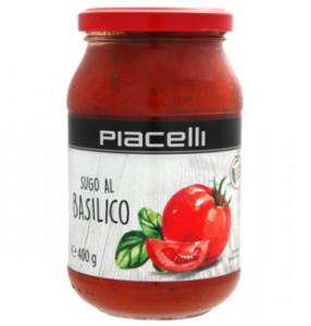 Piacelli Sugo Al Basilico tomātu mērce ar baziliku 400g