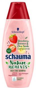 Schauma Nature Moments Erdbeere Banane šampūns 350ml