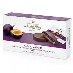 Anthon Berg šokolādes konfektes ar plūmēm Madeirā 220g