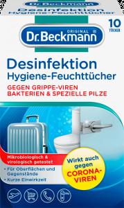 Dr. Beckmann Desinfektion x10 dezinfekcijas salvetes