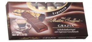 Maitre Truffout Espresso tumšā šokolāde ar kafijas garšu 100g