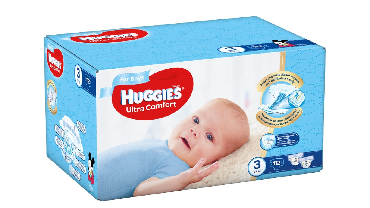 Huggies Ultra Comfort Boy 3 (5-9kg) 112gb.