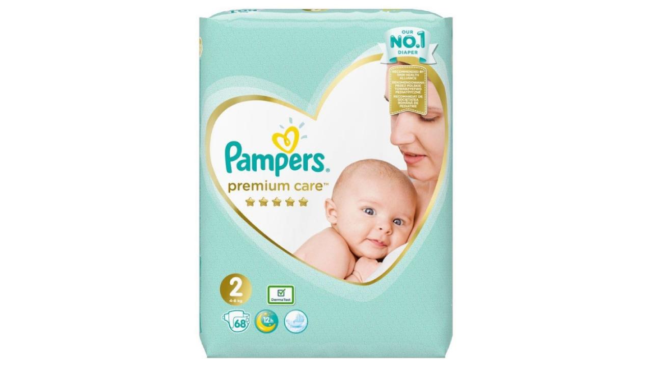 Pampers Premium Care #2 (4-8kg) 68gb | Multum.lv