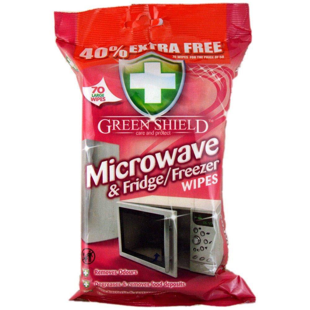 Green Shield mitrās salvetes mikroviļņu, ledusskapju un saldētavu tīrīšanai x70