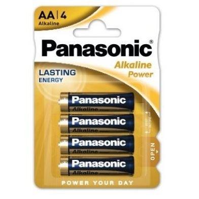 Panasonic AA alkaline baterijas 4x