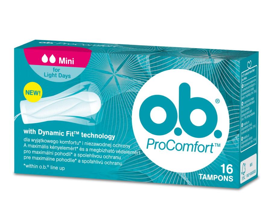 o.b. ProComfort mini 16 tamponi | Multum.lv