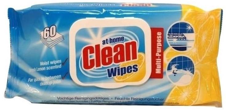 At Home Clean Lemon universal mitrās salvetes x60   Multum.lv