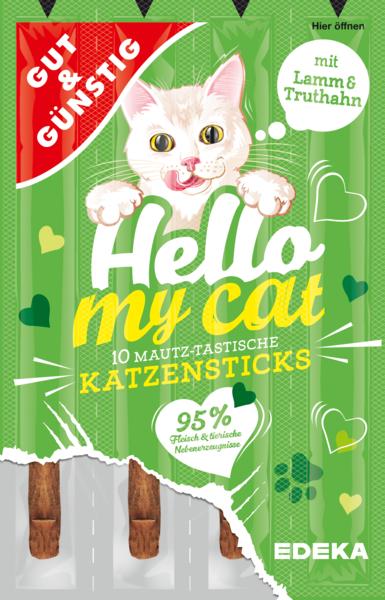 G&G Hello My Cat Katzensticks Lamm x10 50g