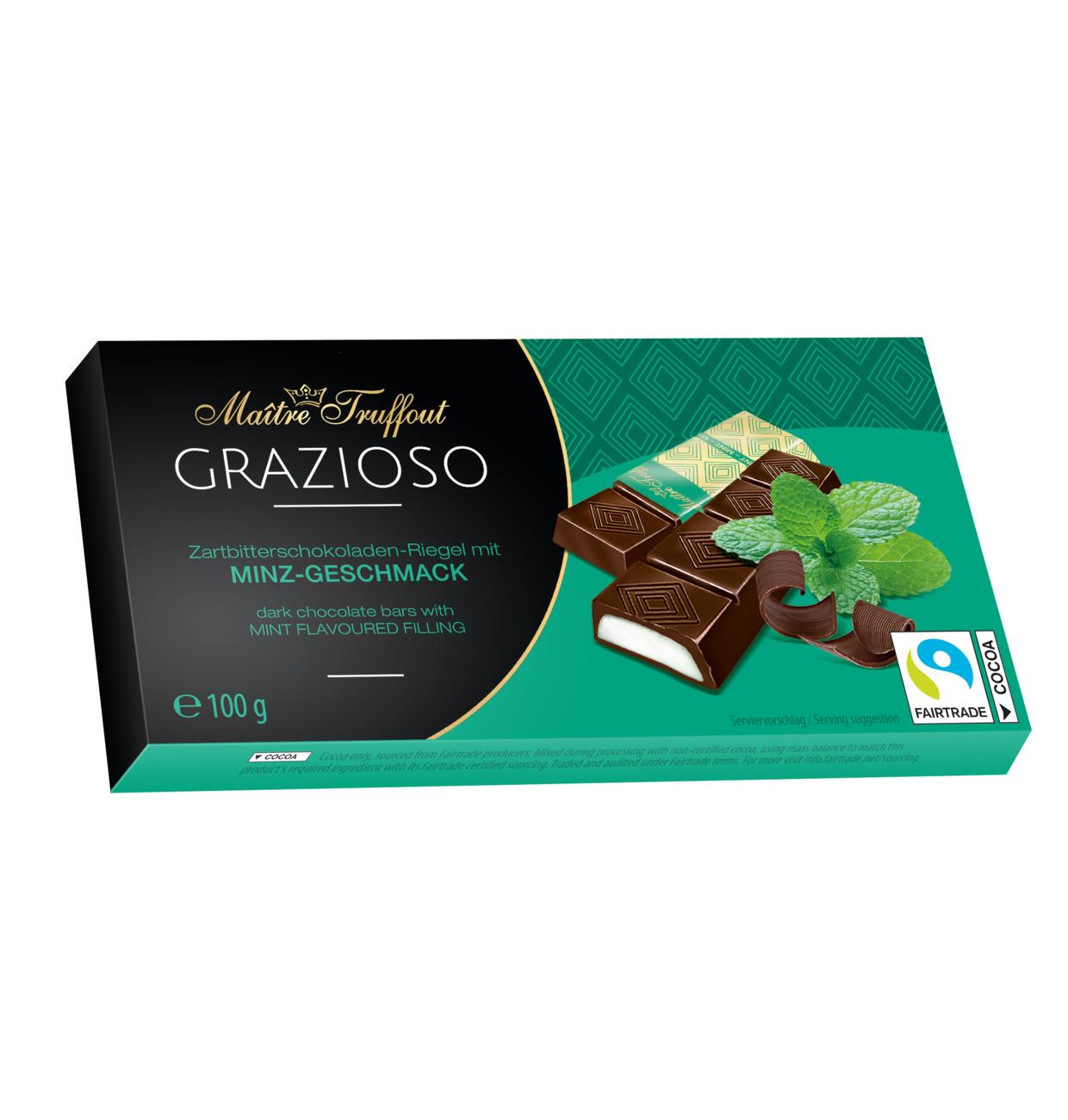 Maitre Truffout Minz tumšā šokolāde ar piparmētras garšu 100g