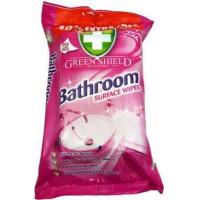 Green Shield Bathroom mitrās salvetes vannasistabas virsmu tīrīšanai x70 | Multum