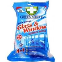 Green Shield Glass & Window Mitrās salvetes stiklam un logiem 70 gab | Multum