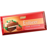 Bohmetumsā šokolāde ar zemeņu krēma pildījumu 100g | Multum