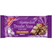 G&G Alpenrahm Traube-Nuss 100g piena šokolāde ar rozīnēm un riekstiem | Multum