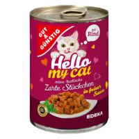 G&G Hello My Cat Huhn konservi kaķiem ar liellopa gaļu 415g | Multum