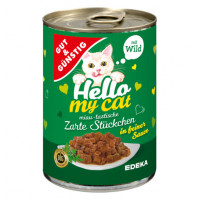 G&G Hello My Cat konservēta barība kaķiem ar medījuma gaļu 415g | Multum