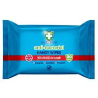 Green Shield Anti-Bacterial antibakteriālas salvetes rokām x20 | Multum