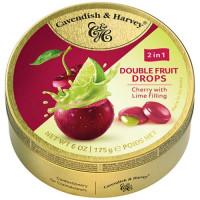 C&H Double Fruits dražejas ar ķiršiem un laimu 175g   Multum