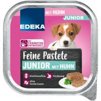 Edeka Feine Junior pastēte suņiem ar vistas gaļu 150g | Multum