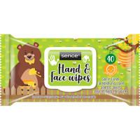 Sence Hands&Face Kids mitrās salvetes roku un sejas tīrīšanai x40 | Multum