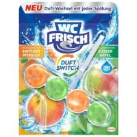 WC Frisch Pfrische&Apfel WC skalošanas bloks ar persiku un ābolu aromātu 50g   Multum