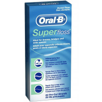Oral-B Super Floss zobu diegs 52m | Multum