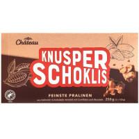 Kraukščīgās šokolādes pārslas Chateau Knusper Schoklis 250g | Multum