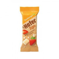 Seeberger batoniņš ar balto šokolādi un zemenēm Hafer2go 50g | Multum