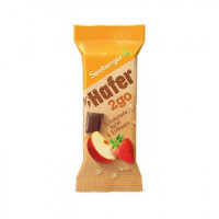 Seeberger batoniņš ar šokolādi, āboliem un zemenēm  Hafer2go 50g | Multum