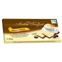 Maitre Truffout baltās kafijas šokolāde 100g | Multum