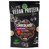 Nature's finest Chocolate 63% Protein Shake- sweetened with Stevia.  Izcilas garšas, dabisks, čia, zirņu, rīsu un kvinojas proteīnu kokteilis, saldināts ar stēviju. 450g | Multum
