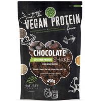 Nature's finest BIO Chocolate 63% Protein Shake. Izcilas garšas, dabisks, čia, zirņu, rīsu un kvinojas proteīnu kokteilis. 450g | Multum