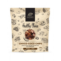 Nature's finest BIO Cacao Coconut Chips 40g. BIO kakao un kokosriekstu čipši. 40g | Multum