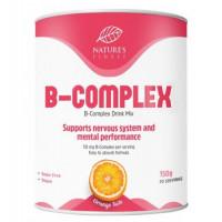 Nature's finest 7 dažādu augstas absorbcijas B vitamīnu kompleksa dzēriens ar dabisku apelsīnu, bez cukura. 250g | Multum