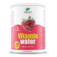Nature's finest VITAMIN WATER - IMMUNE SUPPORT. Vitamīnu un antioksidantu pulveris dzēriena pagatavošanai ar zemenēm, imunitātes stiprināšanai. 200g | Multum