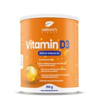 Nature's finest Vitamin D3. Augstas absorbcijas un dozācijas D3 vitamīns. 2000IU vienā devā. Ar dabisku citronu, bez cukura. 150g | Multum