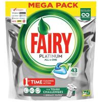 Fairy Platinum All in One kapsulas trauku mazgājamām mašīnām x43 641g | Multum