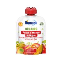 Humana BIO ābolu biezenis ar persikiem un mango, mazuļiem no 8 mēnešiem, 90g | Multum